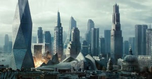 Watching future London get torn apart is a visually arresting sight.