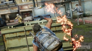 Crafting is included in the multiplayer, allowing creation of items such as smoke bombs and molotov cocktails.
